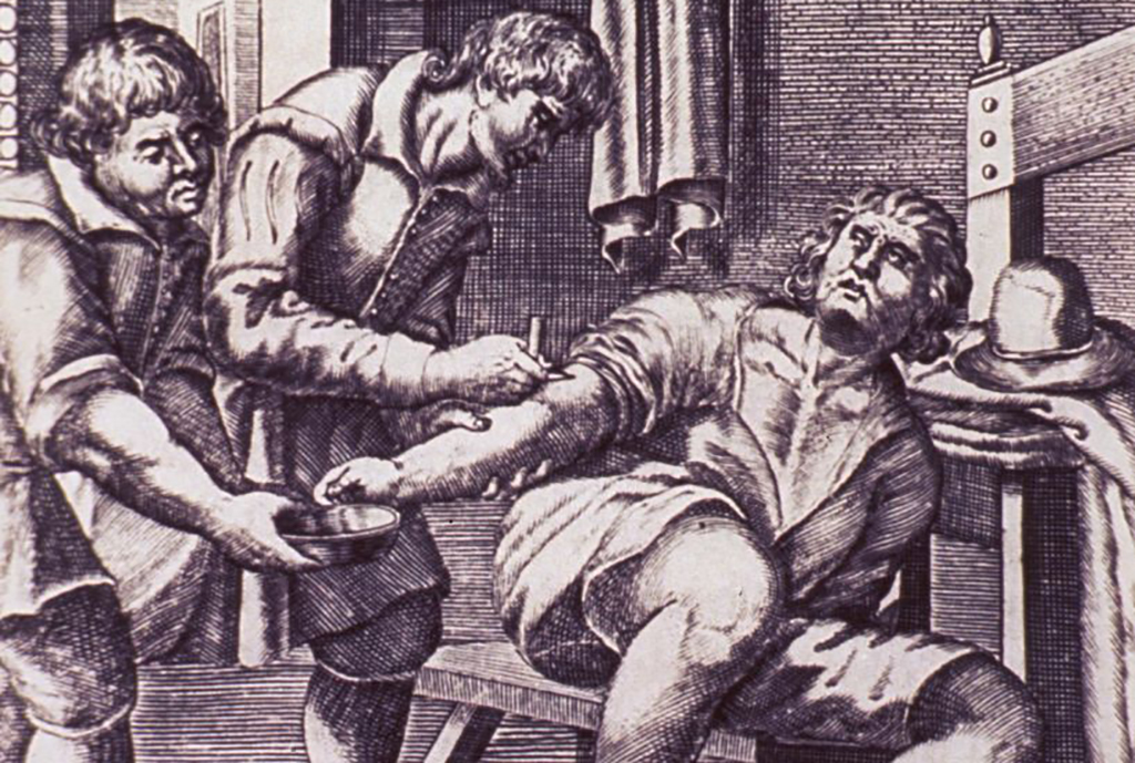 Man being cut