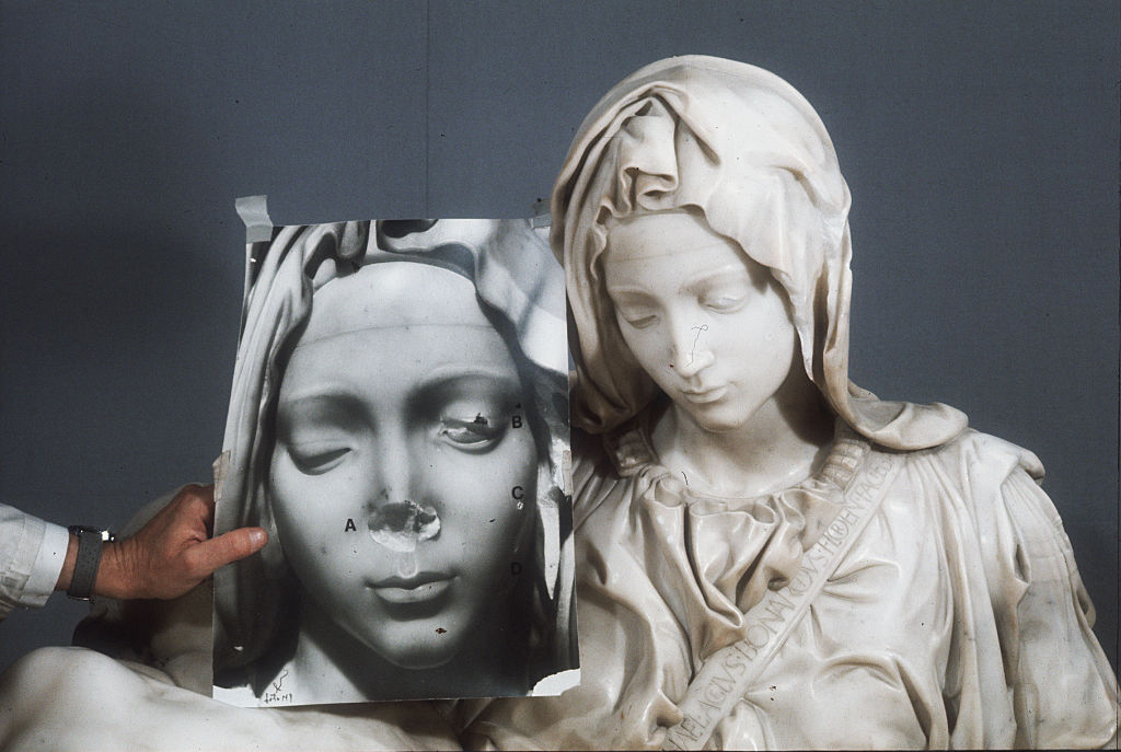 Madonna before and after restoration