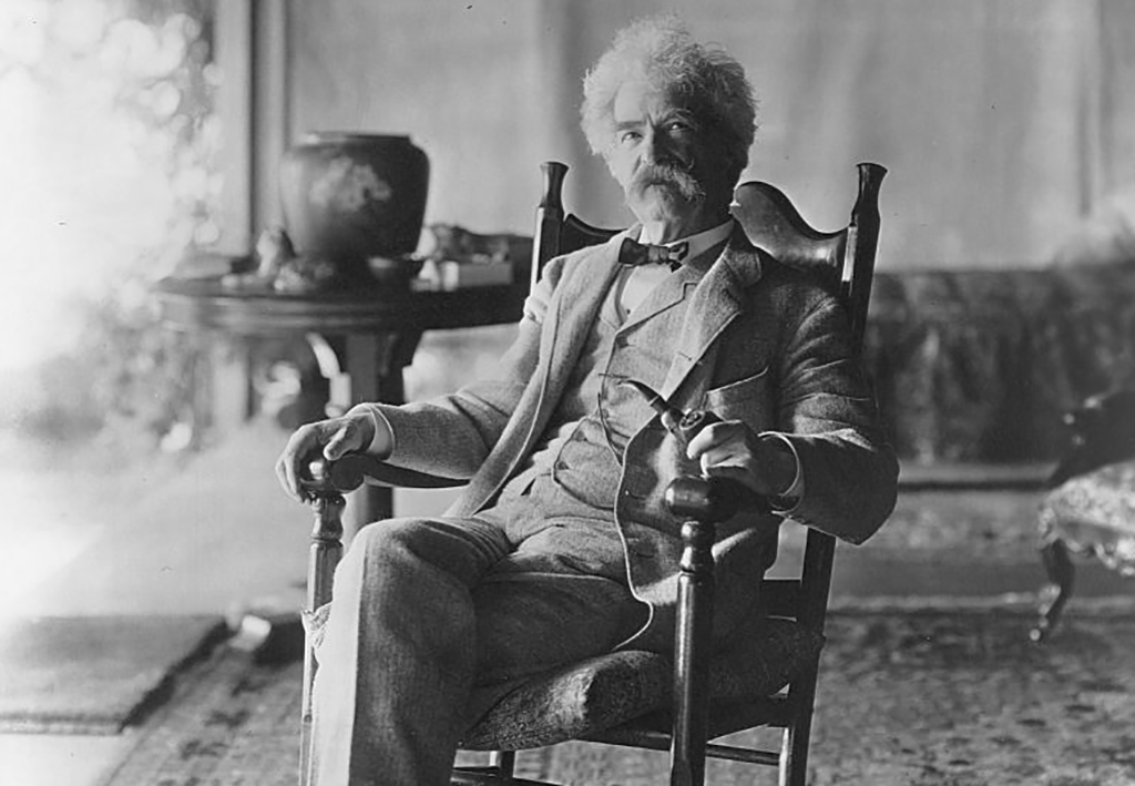 Twain in a chair