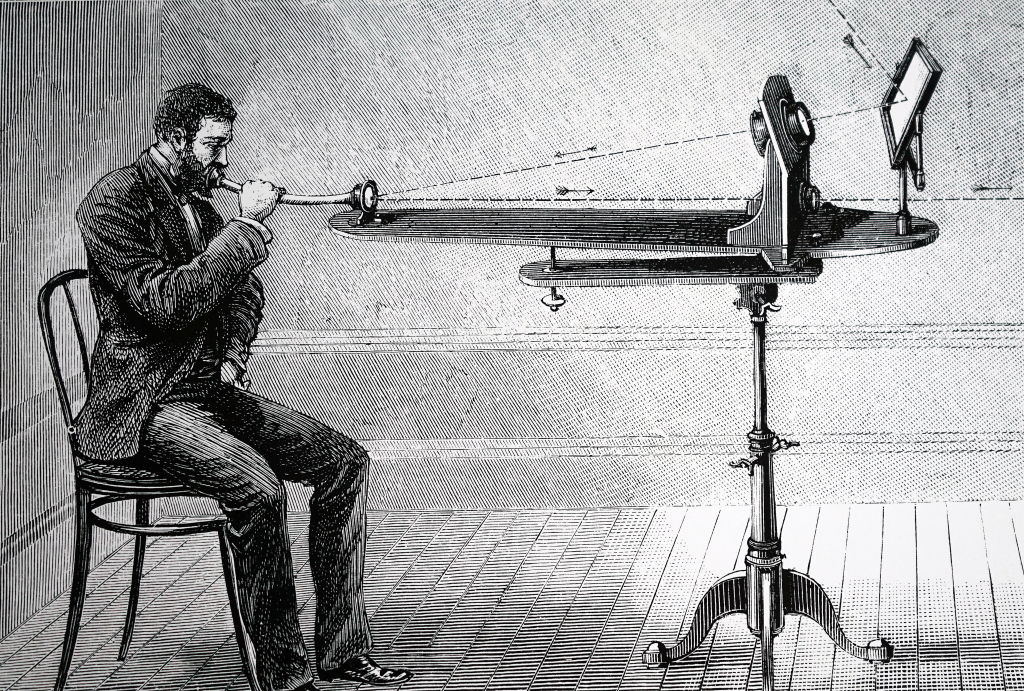 Alexander Bell experimenting