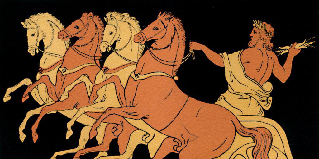 Zeus on a chariot