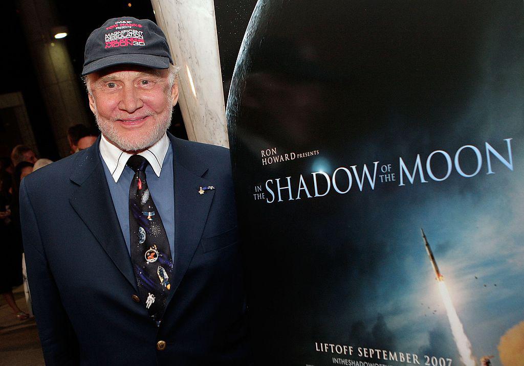 Aldrin at a film screening