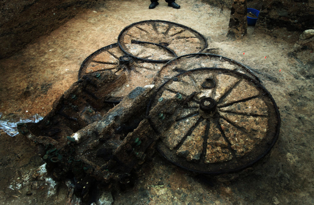 The Chariot Should Have Been Laid Flat But It Was Buried Upright