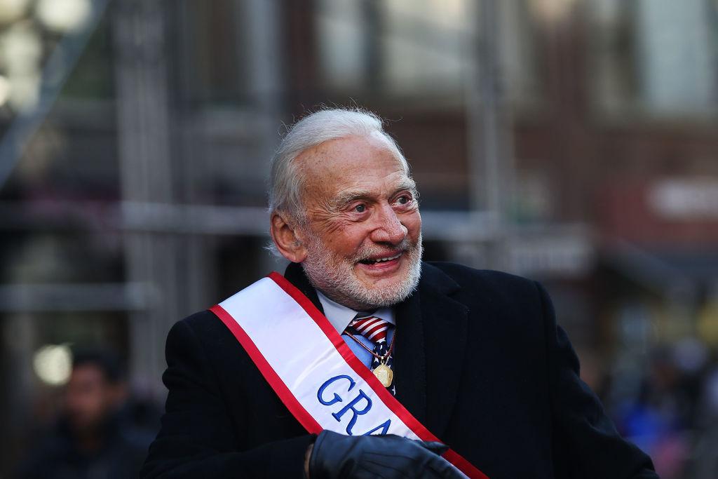 Aldrin during Veterans parade