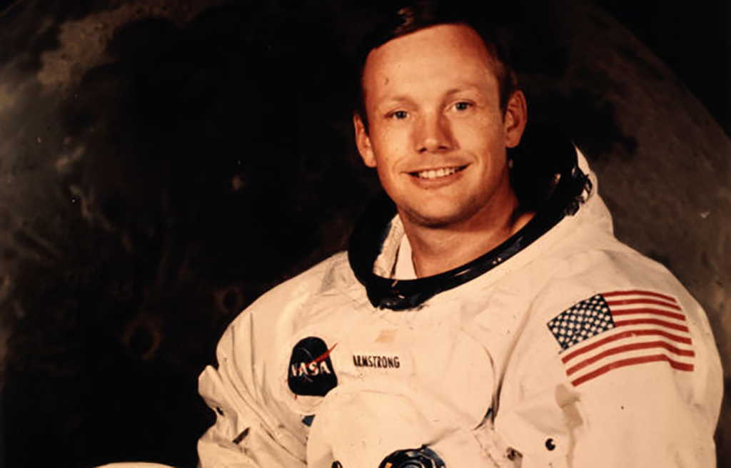 Aldrin posing in his suit