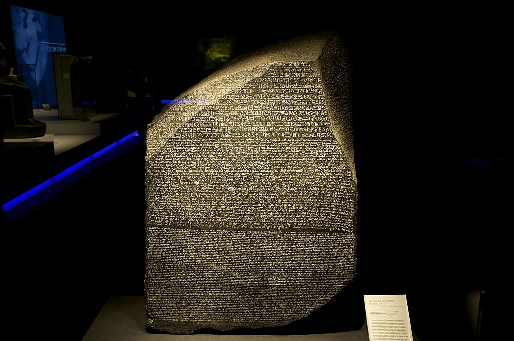 Picture of the Rosetta Stone