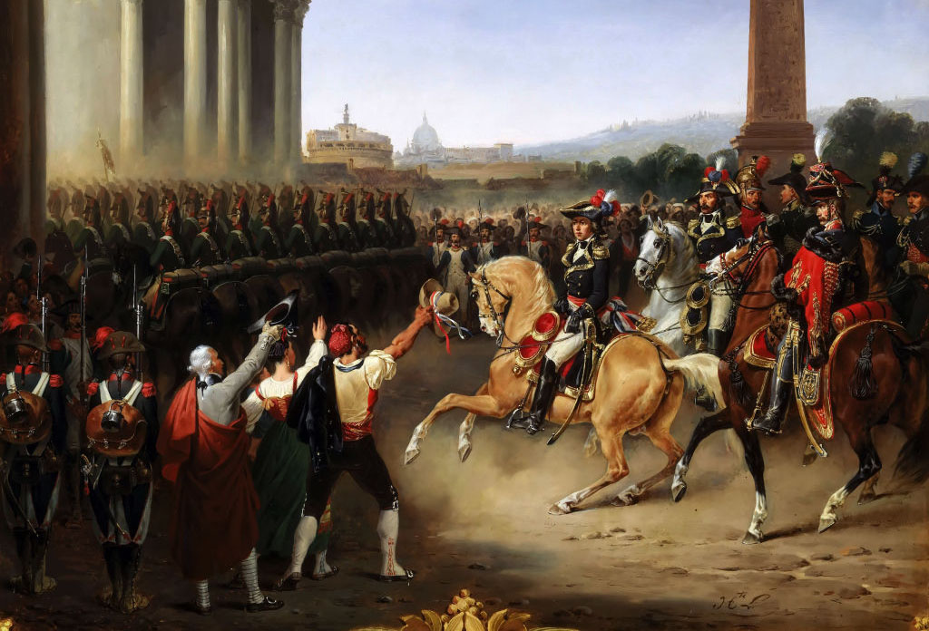 Napoleon arriving in Rome