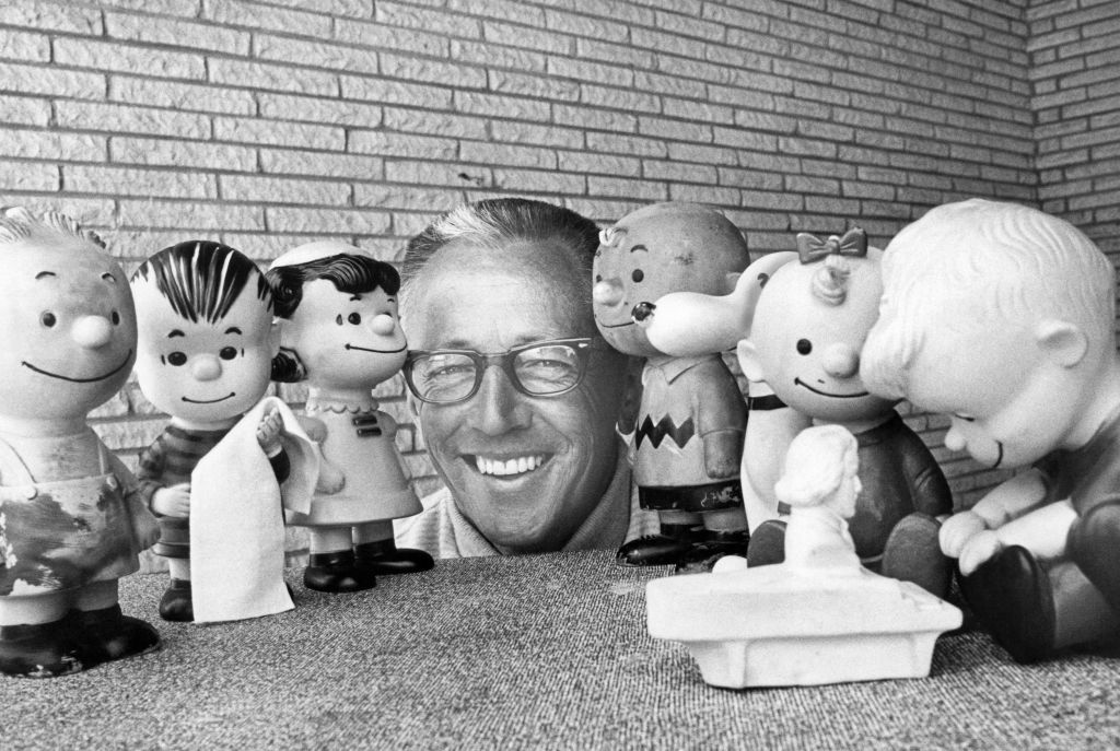 Schulz with peanuts characters