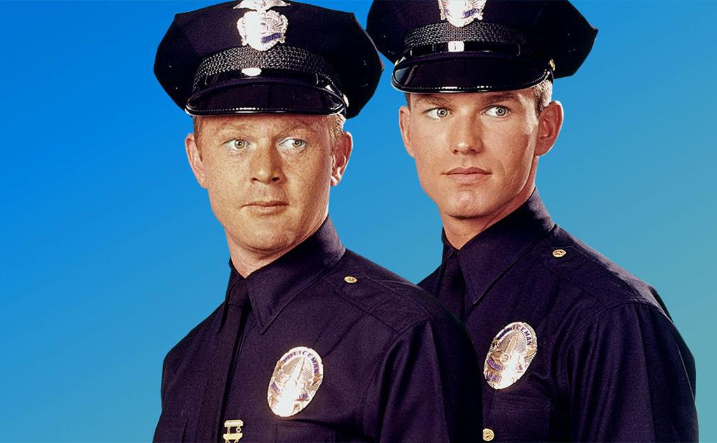 Two actors as policemen