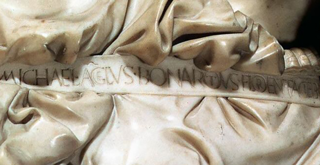 Michelangelo's signature