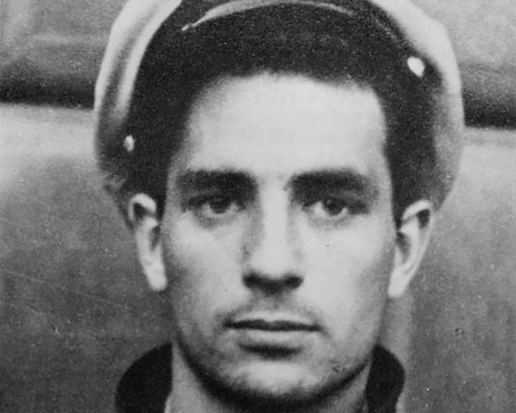 Jack Kerouac wearing marine hat