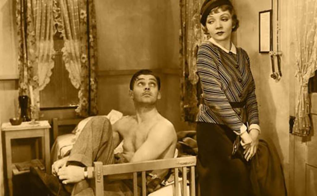 Clark Gable without a shirt