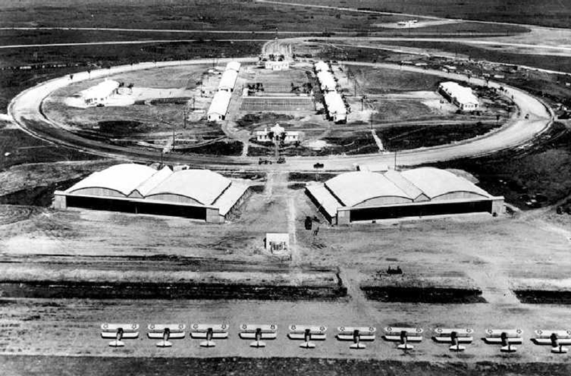 An old photo shows Carlstrom Field in Arcadia, Florida.