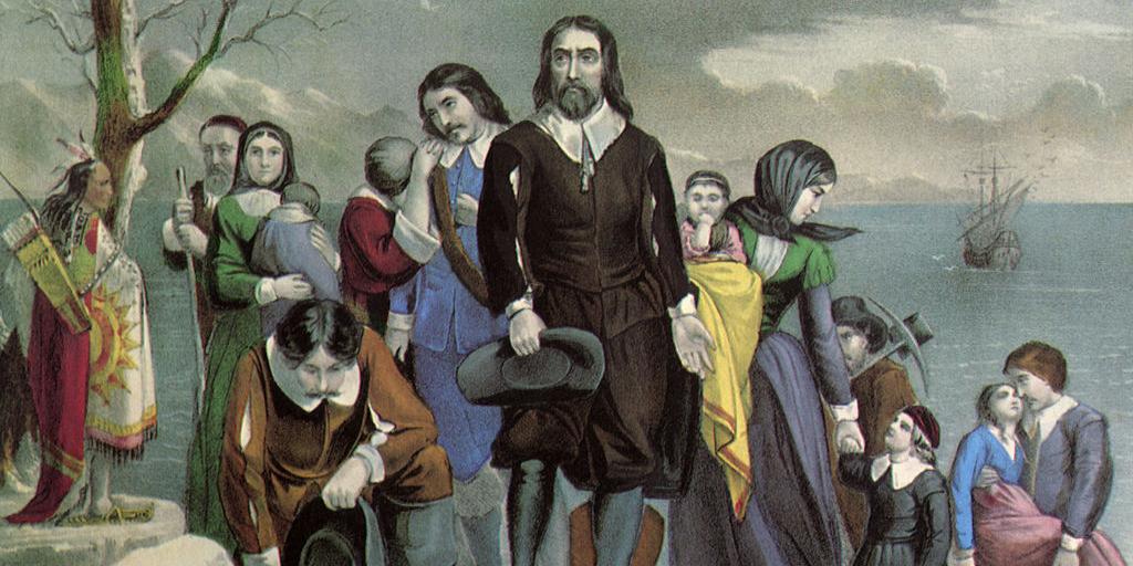 Pilgrims landing