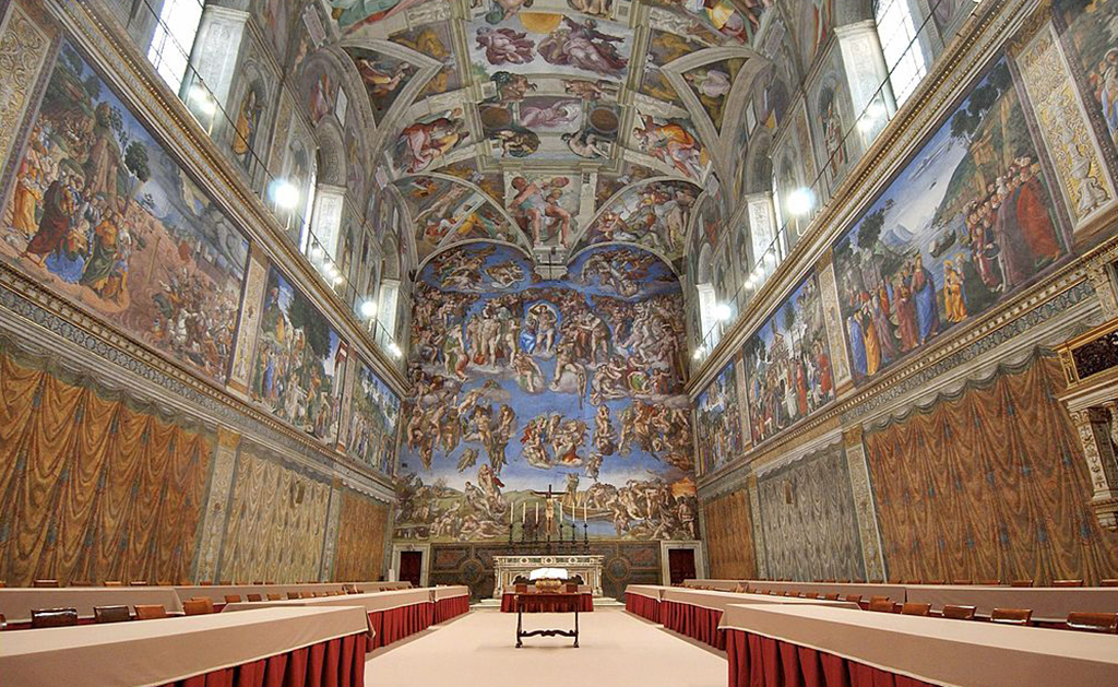 Conclave in the Sistine Chapel