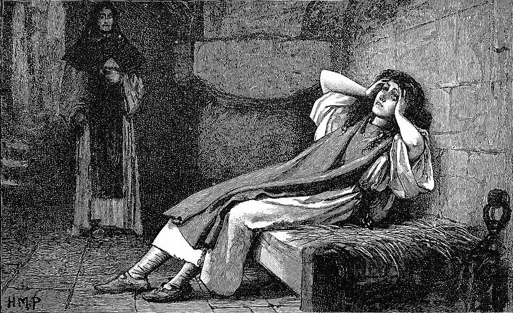 Joan of Arc imprisoned
