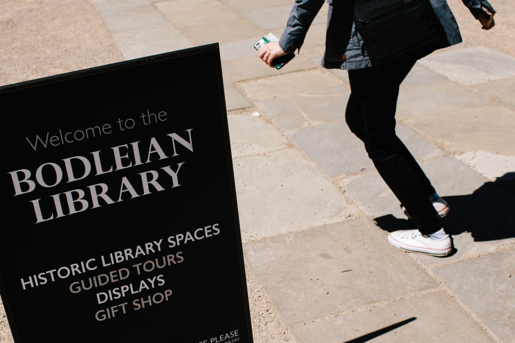 Sign for Bodleian Library
