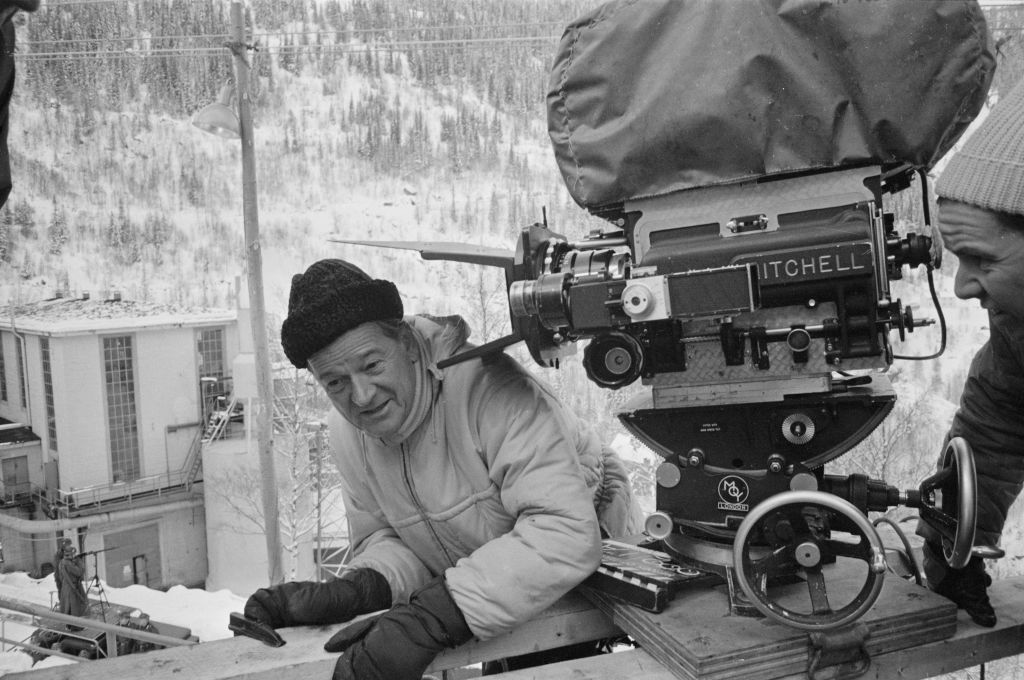 director anthony mann on set