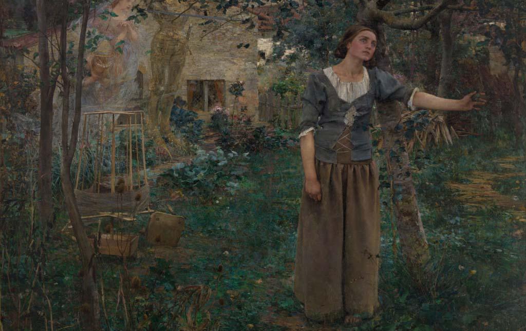 Joan of Arc in the garden