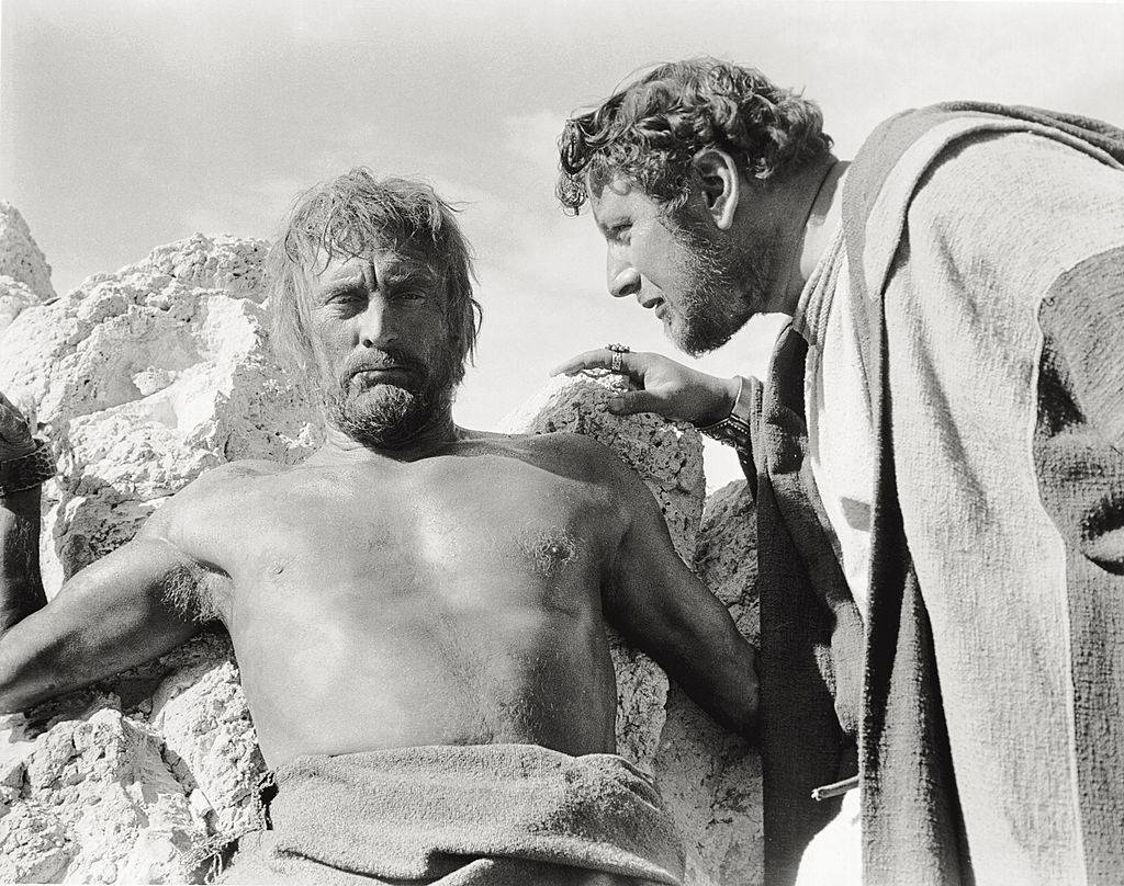 peter ustinov and kirk douglas