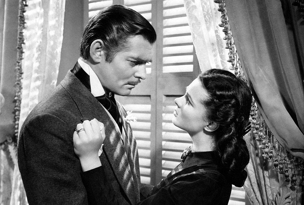 Gable and Vivien Leigh in Gone with the Wind