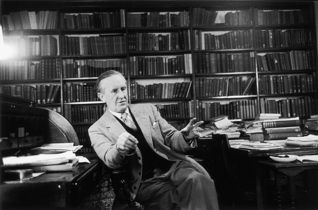 Tolkien in an office