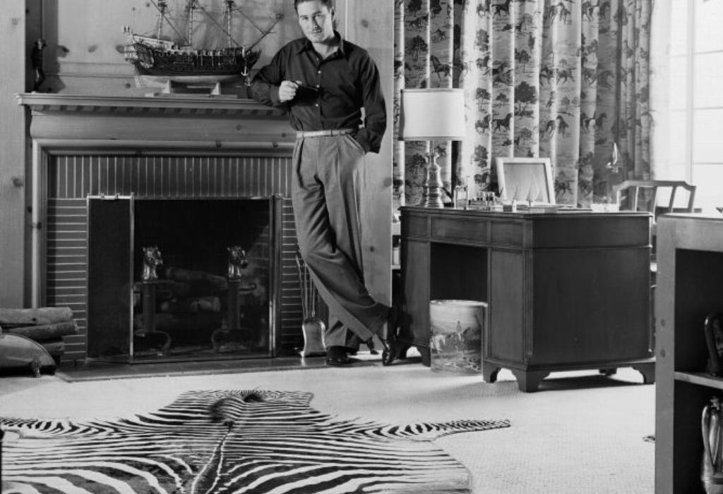 Errol Flynn at home