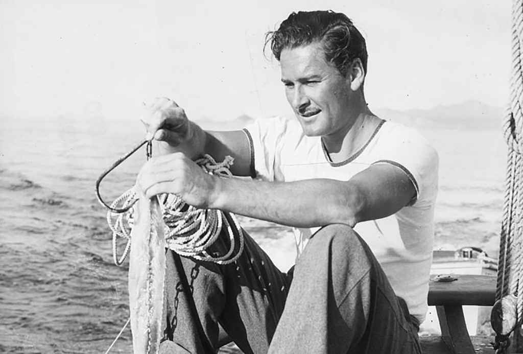 Flynn on a boat