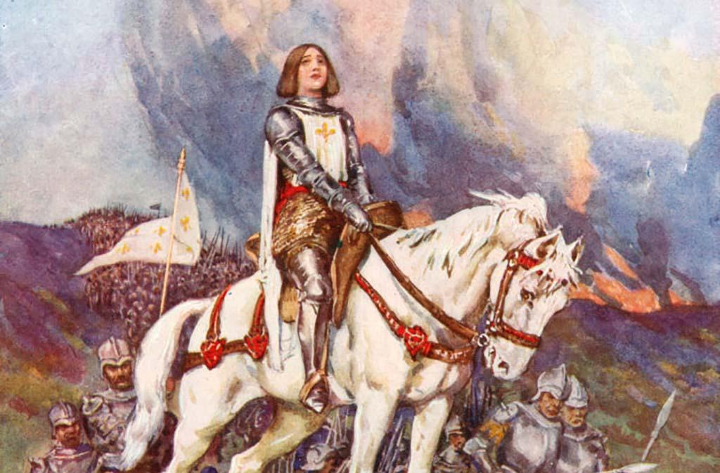 Painting of Joan of Arc on horseback