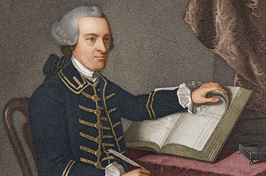 John Hancock with a book