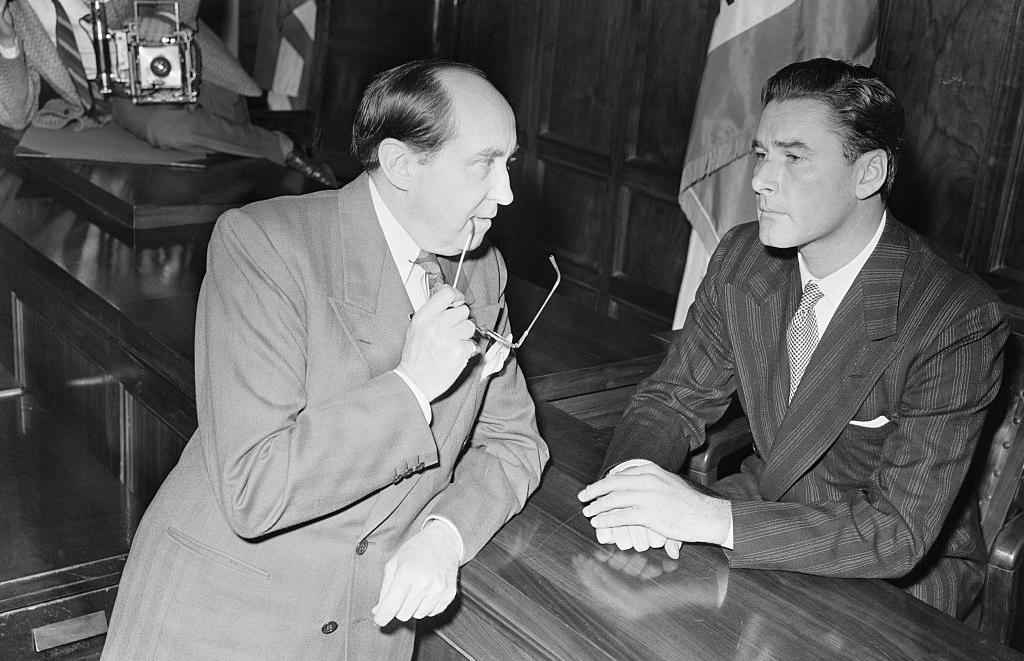 Errol Flynn on trial