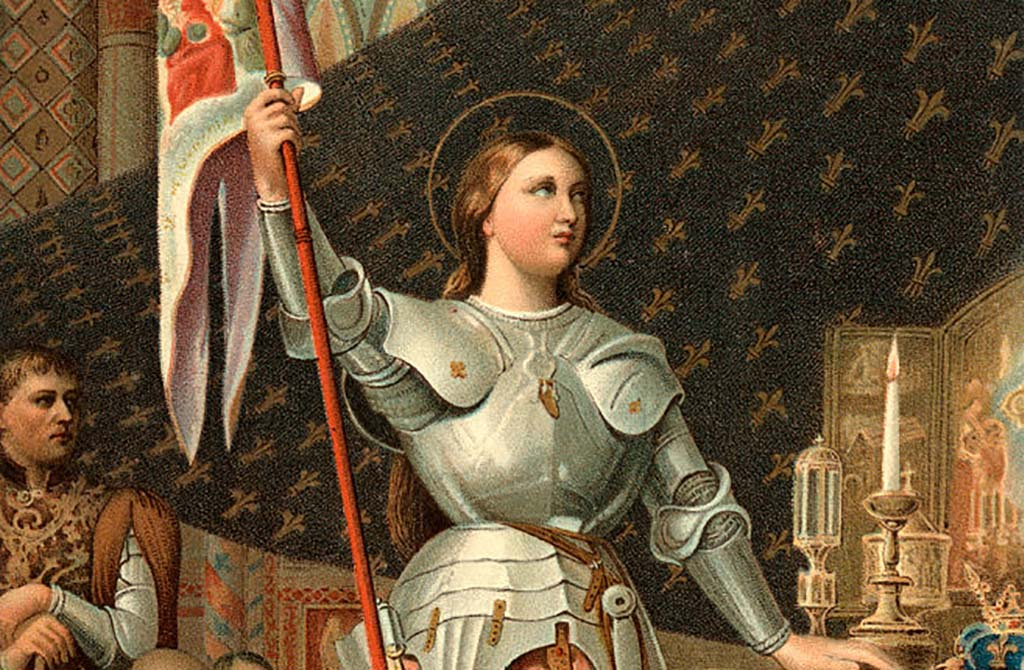 Painting or Joan of Arc with halo
