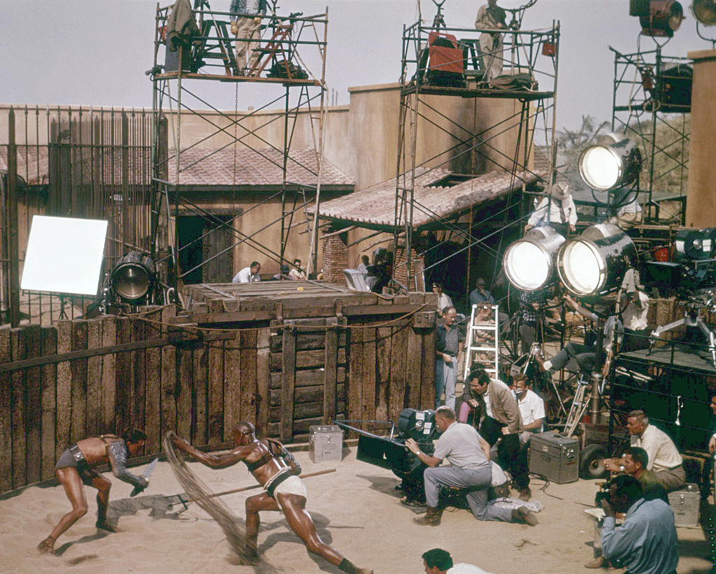 filmin spartacus with a look at the lights used