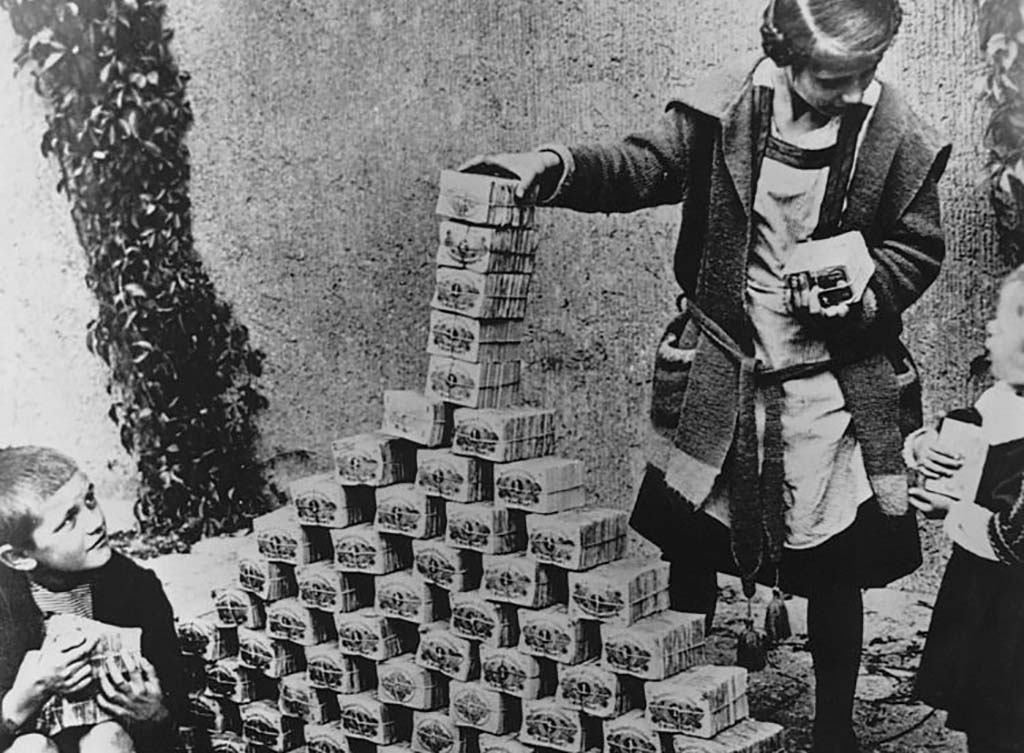 Kids playing with money