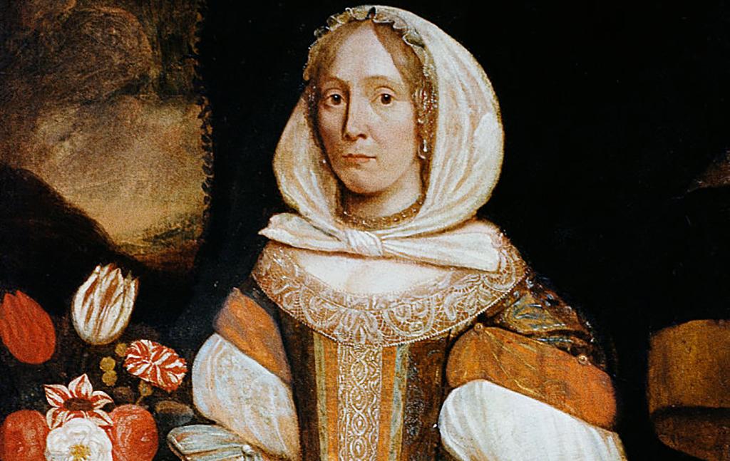 Portrait of colonial woman