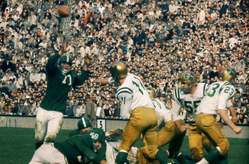 michigan playing notre dame in 1959