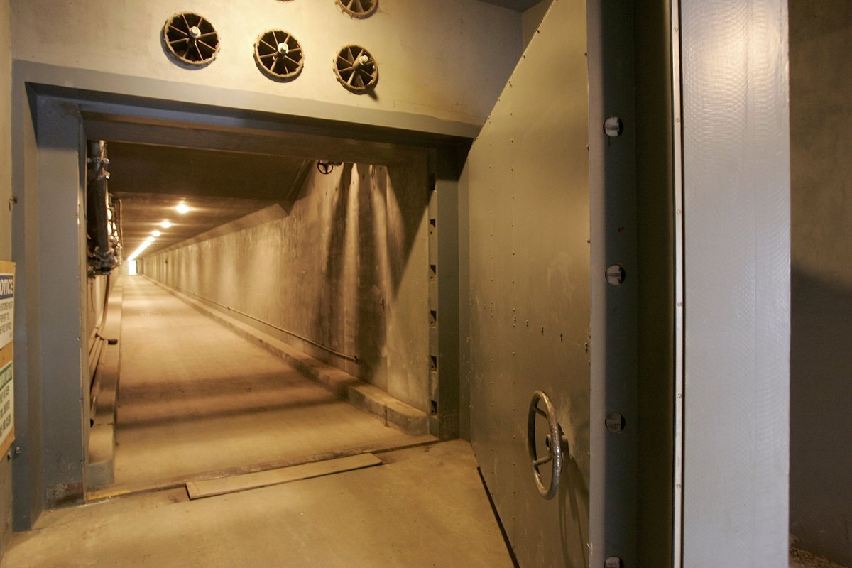 The West Tunnel of Greenbrier Bunker is seen.