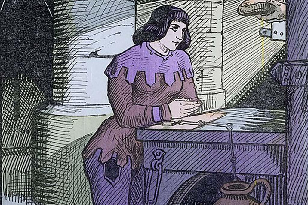 Joan of Arc praying