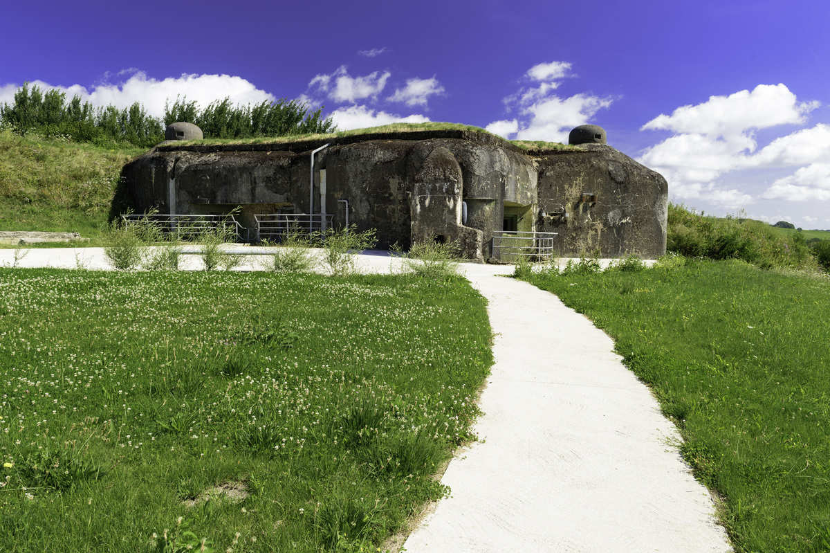 An abandoned building leftover from the Maginot Line is seen in France.