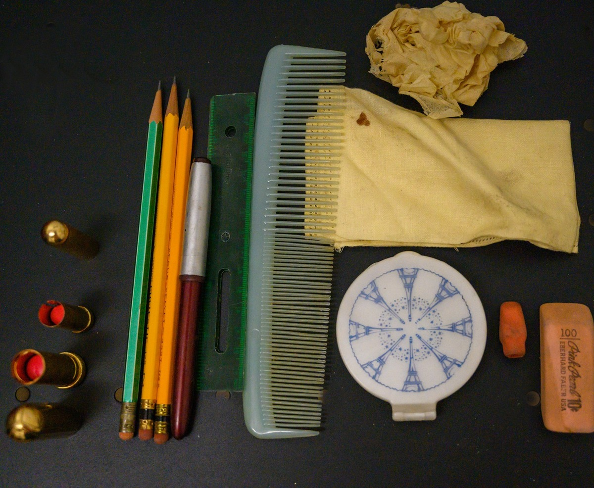 combs and pencils from Patti's purse