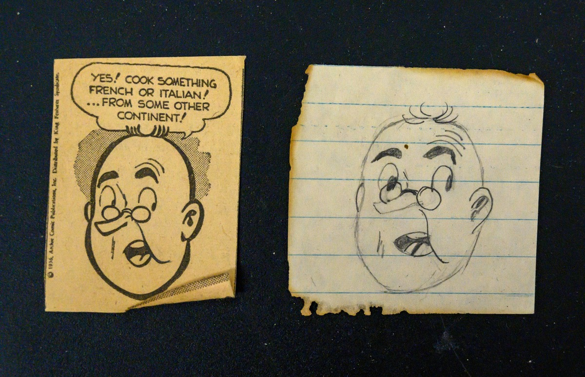 doodle and cartoon from patti's purse