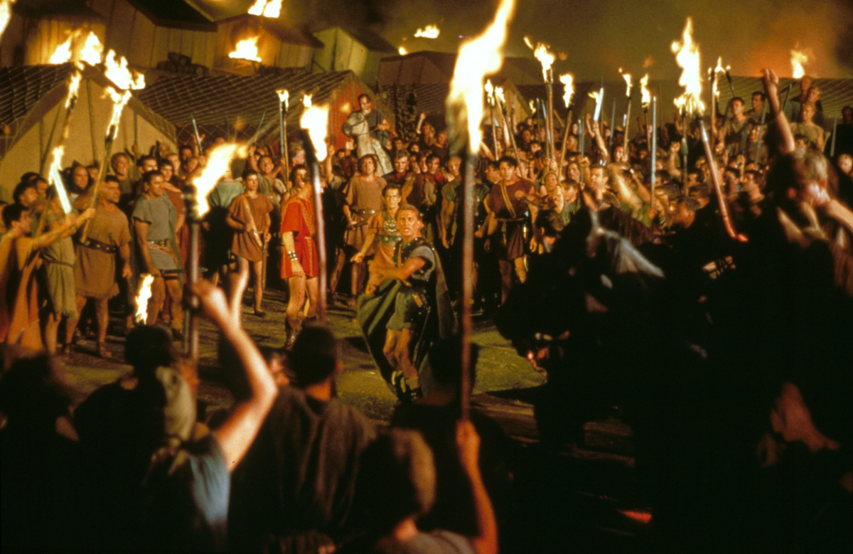spartacus was a massive production for universal studios