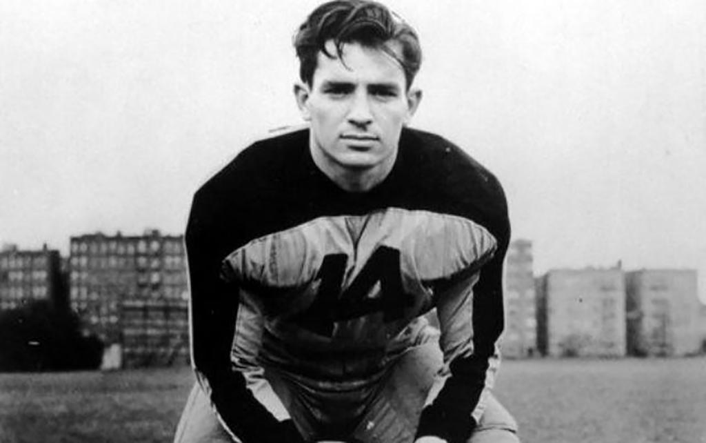 Kerouac in football uniform