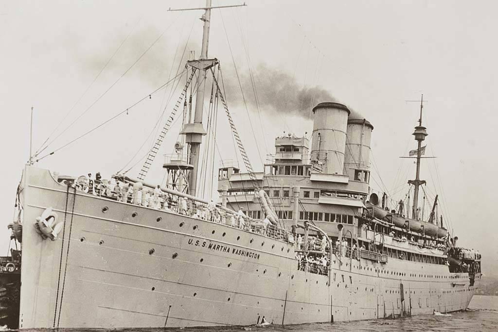 Exterior of a ship