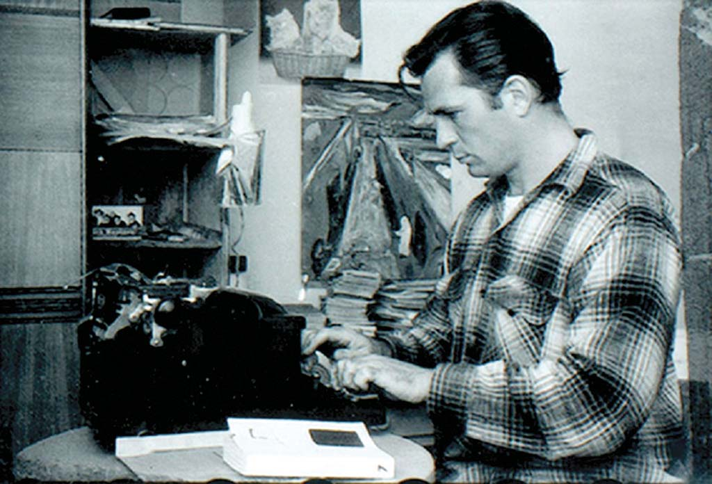 Kerouac with books