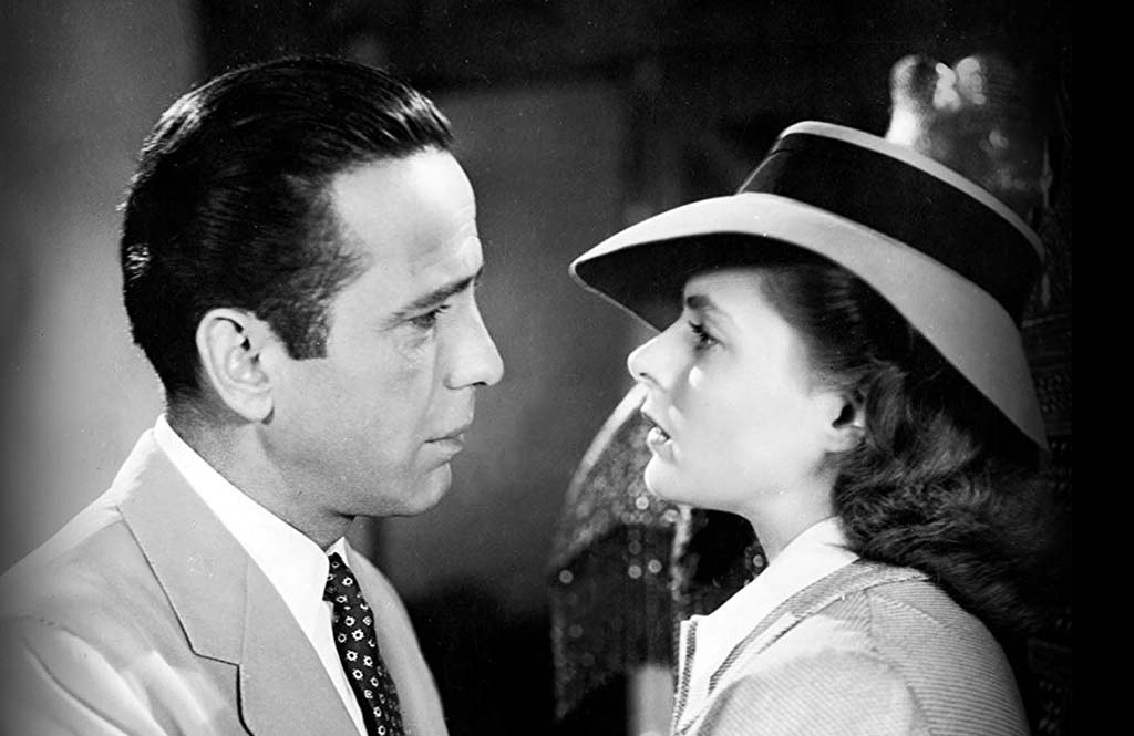 Bogart and Bergman looking at each other