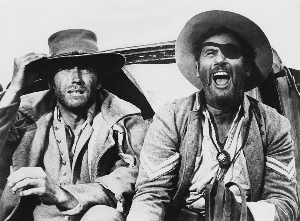 Clint Eastwood as 'Blondie' and Eli Wallach as Tuco