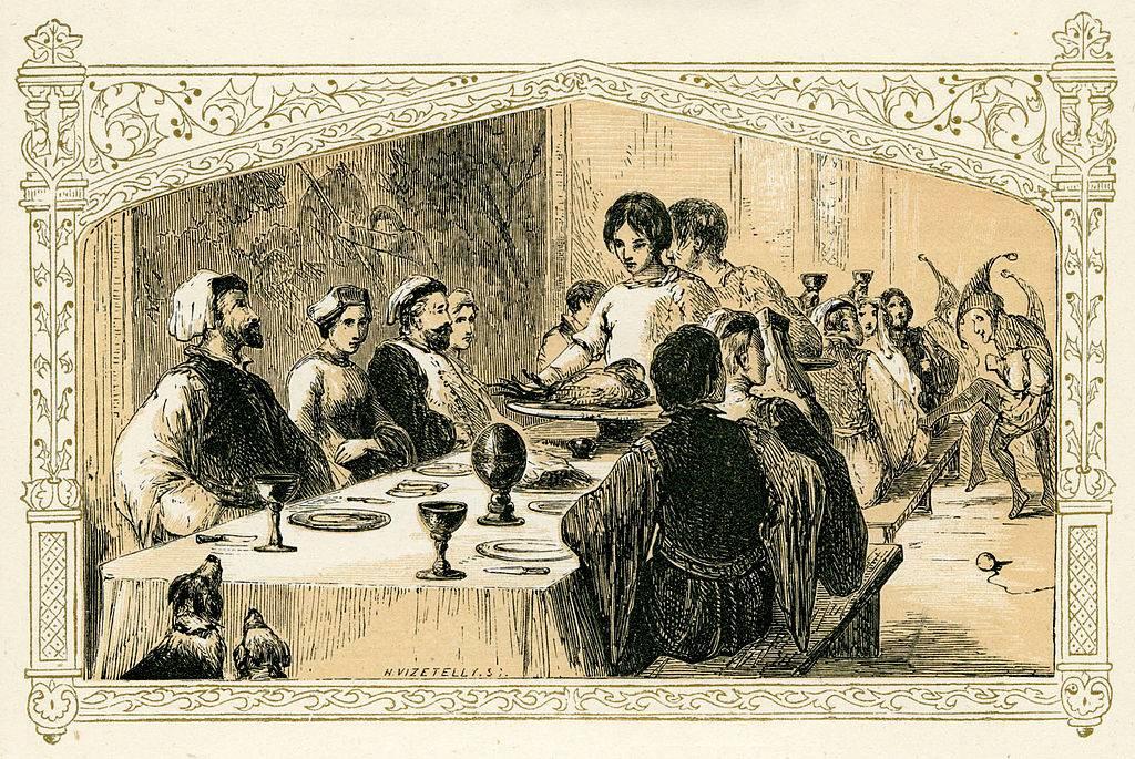 Woman serving at a banquet