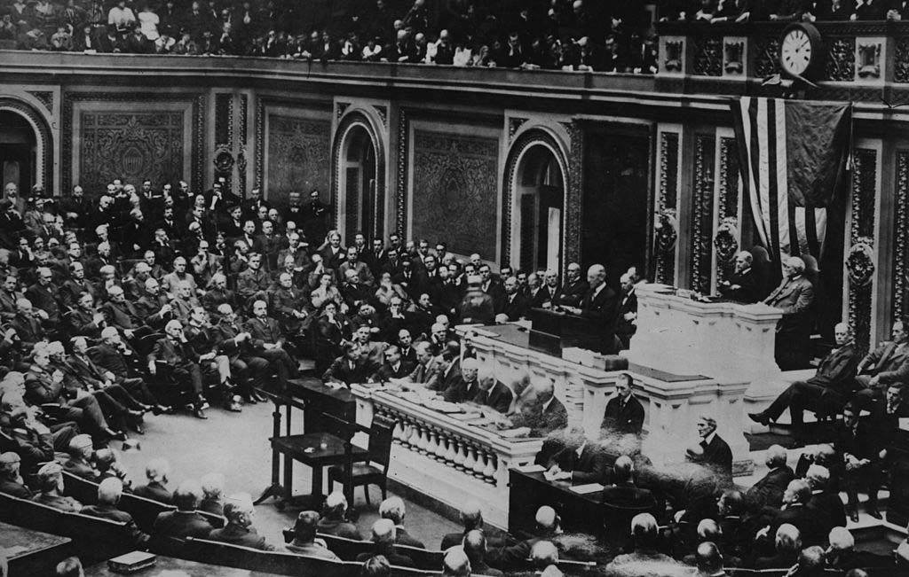 President Wilson with Congress