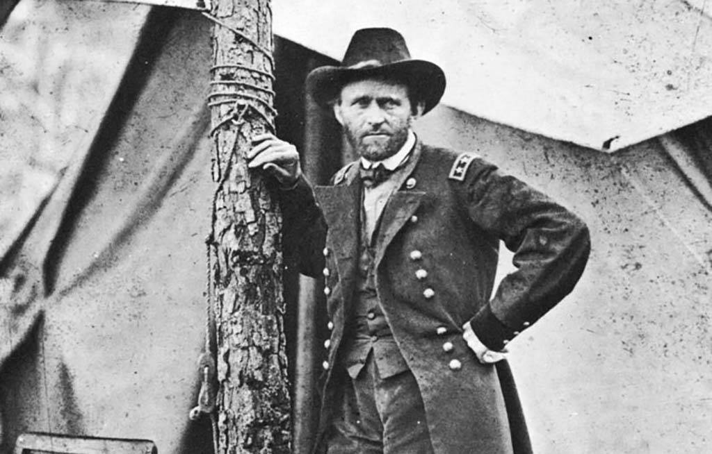 Ulysses S. Grant Leaning On A Tree